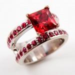 rubino in anello di fidanzamento